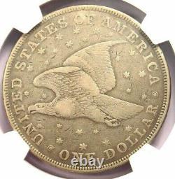 1836 Gobrecht Dollar Holed/Plugged F Details NGC