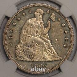 1866 Motto $1 NGC Proof 60 Seated Liberty Dollar