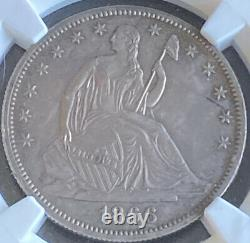 1866 Seated Liberty Half Dollar Proof Ngc Motto Pf58
