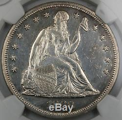 1868 Seated Liberty Silver Dollar, NGC Proof Details (Business Strike Coin)DGH