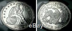 1872 $1 Proof Liberty Seated Dollar NGC Proof Details Cleaned #S15