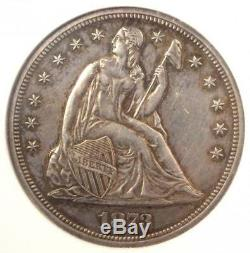 1873 PROOF Seated Liberty Silver Dollar $1 Coin NGC PR58 (PF58) $1500 Value