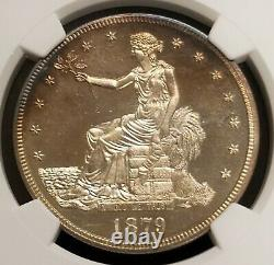 1879 Proof Trade Silver Dollar $1 NGC PF64+ Cameo Only 1,541 Minted