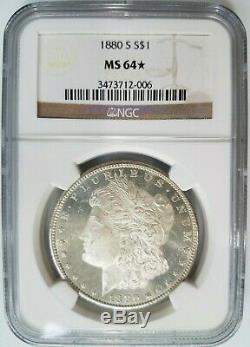 1880 S Silver Morgan Dollar NGC MS 64 Star Deep Mirrors Proof DMPL DPL