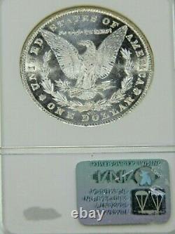 1881 CC Morgan Silver Dollar NGC MS65PL Blast White Proof like & Cameo PQ #G752