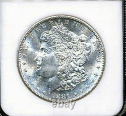 1881-S Morgan NGC MS-65 Almost Proof Like (PL) White Silver Dollar San Francisco