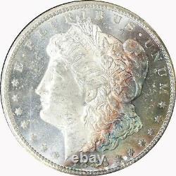 1883-CC NGC Silver Morgan Dollar GSA MS62PL Proof Like US Coin Rainbow Toned