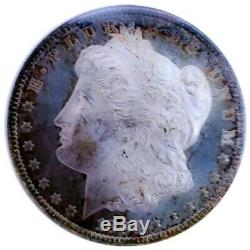 1884 O Ms63 Pl/proof Like Morgan Silver Dollar Rainbow Toning 007