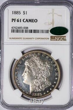 1885 Morgan NGC PR61CAM CAC-Verified Silver Dollar CAMEO Proof