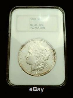 1890 Morgan Silver Dollar NGC MS63 DPL Deep Mirror Proof Like DMPL
