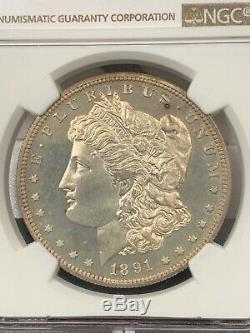1891 Proof Morgan Silver Dollar Graded PF65 by NGC