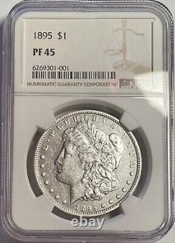 1895 Morgan Dollar Key Date Ngc Pf45 Pr45 Rare Circulated Proof 880 Minted