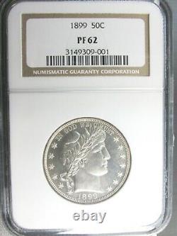 1899 Barber Half Dollar 50c NGC PR62 US Silver Proof Coin Philadelphia 001