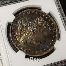 1902 Morgan Dollar Proof 61 Ngc #001 Beautiful Toning