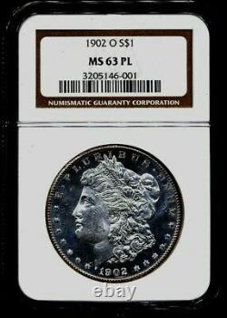 1902-O Morgan NGC MS-63-PL Proof Like White Silver Dollar Coin New Orleans Mint