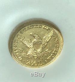 1905 Ngc, Proof 62 Liberty Head 2 1/2 Dollar Gold Piece