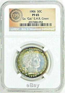 1906 50c NGC PR65 Barber Half Dollar (TWIN PEDIGREES) $3500 NGC PGV on 11/26/19