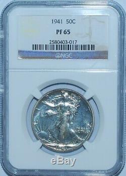 1941 NGC PR65 Proof Walking Liberty Half Dollar