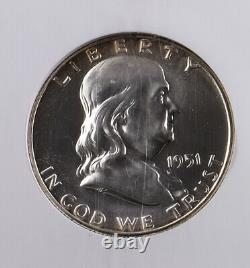 1951 50C Ben Franklin Half Dollar NGC PF67 Proof 67