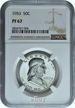 1953 50c Silver Proof Franklin Half Dollar NGC PF 67
