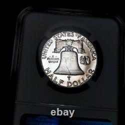 1953 PF67 Franklin Half Dollar 50c Proof, NGC Graded PR67, Light Tone