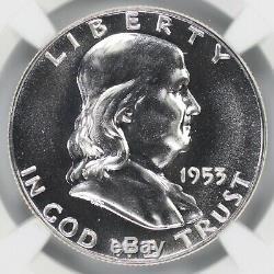 1953 Proof Franklin Half Dollar 50c Ngc Certified Pf Pr 67 (003)