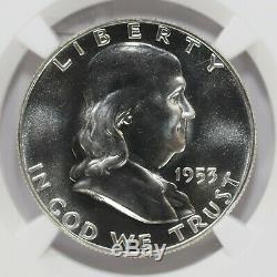 1953 Proof Franklin Half Dollar 50c Ngc Certified Pr Pf 68 (001)