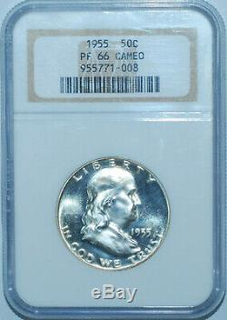 1955 NGC PR66CAM Cameo Proof Strike Franklin Half Dollar