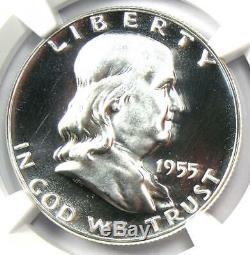 1955 PROOF Franklin Half Dollar 50C Coin NGC PR69 Cameo (PF69) $3,000 Value