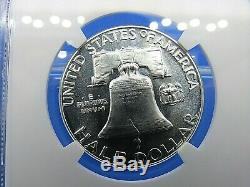 1955 P to 1963 P, 9-Coin Set, Franklin Half Dollars, NGC Pf 68 Cameo/Star