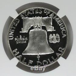 1956 Proof Franklin Half Dollar 50c Type 2 Ngc Cert Pr Pf 67 Ultra Cameo (002)