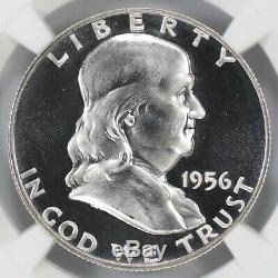 1956 Proof Franklin Half Dollar 50c Type 2 Ngc Certified Pr Pf 68 Cameo (004)