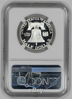 1956 Type 2 Franklin Half Dollar 50c Ngc Pf 69 Proof Unc Ultra Cameo (001)