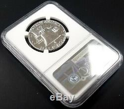 1956 Type 2 Proof Franklin Silver Half Dollar graded PF 69 by NGC! Bright