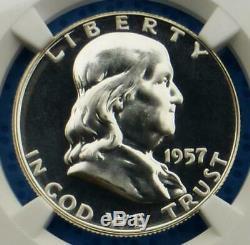 1957 NGC PF 68 Star Franklin Silver Half Dollar, Gem Proof 68 Star 50 Cent Coin