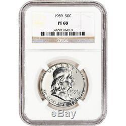 1959 US Franklin Silver Half Dollar Proof 50C NGC PF68