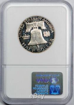 1962 50C Franklin Half Dollar NGC PF 67 Cameo Toned Gold CAC Sticker Pop 1