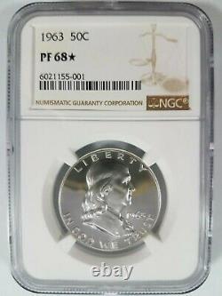 1963 Franklin Silver Half Dollar NGC PF 68 Star PR PL Deep Mirror Proof DPL DMPL