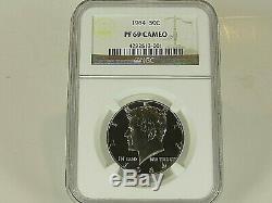1964 P Silver Kennedy Half Dollar NGC Pf 69 Cameo, Pop. =635