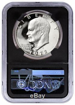 1972-S Silver Eisenhower Dollar NGC PF69 Cameo Charlie Duke Signed SKU54675