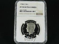 1984 S Clad Kennedy Half Dollar NGC Pf 70 Ultra Cameo, Pop. =146