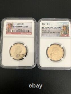 2000-2020 S SACAGAWEA Dollar NGC PF7025 Coins COMPLETEFLAWLESS QUALITY