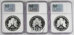 2003 W American 1 Oz 999 Silver Eagle Proof $1 Dollar Coin NGC PF70 Ultra Cameo