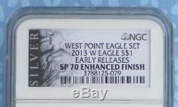 2013 W NGC SP 70 Enhanced Early Release Silver Eagle Dollar with Black Label
