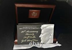 2014 Commemorative Gold Kennedy Half Dollar. This is a beautiful First Release