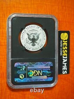 2014 W 50c Reverse Proof Silver Kennedy Half Dollar Ngc Pf70 Black Core