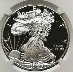 2015-W 1oz Silver Proof American Eagle $1 NGC PF70 Ultra Cameo FROSTY & PERFECT