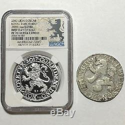 2017 Netherlands Royal Dutch Lion Dollar 1oz 9999 Silver Coin NGC PF70 5K