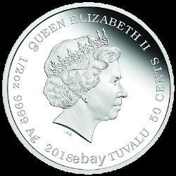 2018 TUVALU Looney Tunes TWEETY BIRD Silver Proof NGC PF70 Half Dollar Coin ER