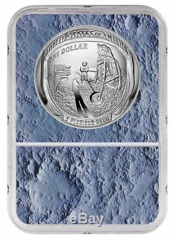 2019 Apollo 11 50th Commem Silver Dollar NGC PF70 FR Moon Core SKU56542